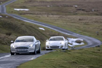 Aston Rapide vs Porsche Panamera
