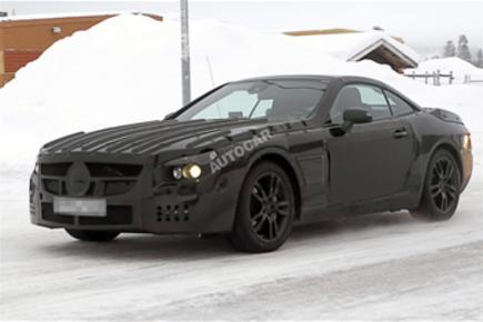 New Mercedes SL spied testing