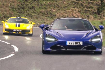 Ferrari 488 Pista vs McLaren 720S video review