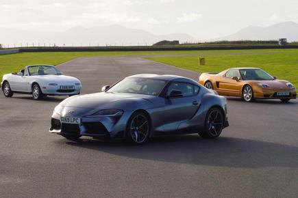 Toyota Supra 2020 meets mk1 Honda NSX and Mazda MX-5