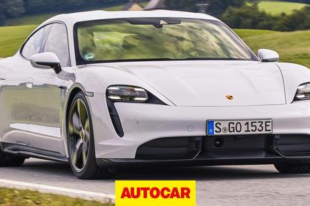 Porsche Taycan video review thumbnail