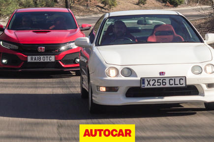 Autocar heroes: Civic Type R meets Integra Type R