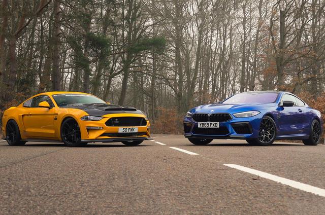 BMW M8 Competition vs Clive Sutton Mustang CS800 video thumbnail