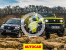 Suzuki Jimny vs Toyota Land Cruiser video thumbnail