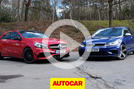 Mercedes-AMG A45 versus Volkswagen Golf R review