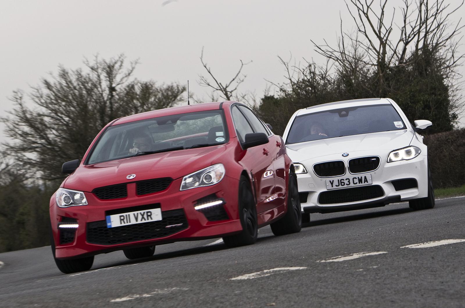 Vauxhall vauxhall vxr8 estate : Battle of the super-saloons: BMW M5 vs. Vauxhall VXR8